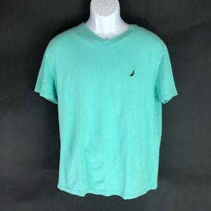 Nautica Men's Green T-Shirt L